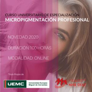 Curso Universitario Especialización Micropigmentación Profesional